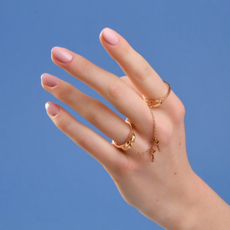 Handcuffs Ring in Yellow Gold with Diamonds  HCR10.24  Sybarite Jewellery - image 4