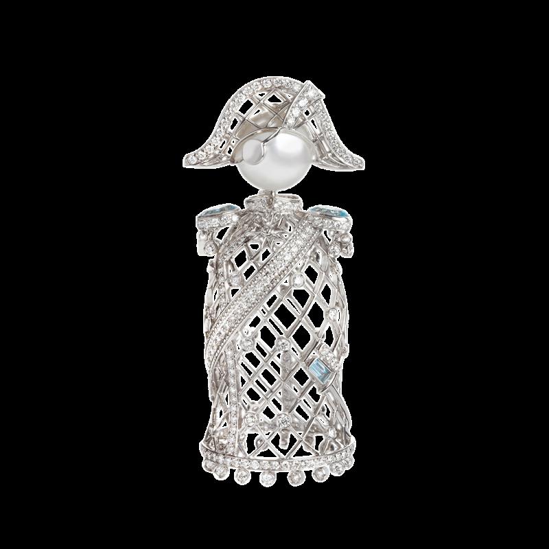 Nelson Pendant in White Gold with White Diamonds & South Sea Pearl  NELP6.04.16 Sybarite Jewellery - image 0