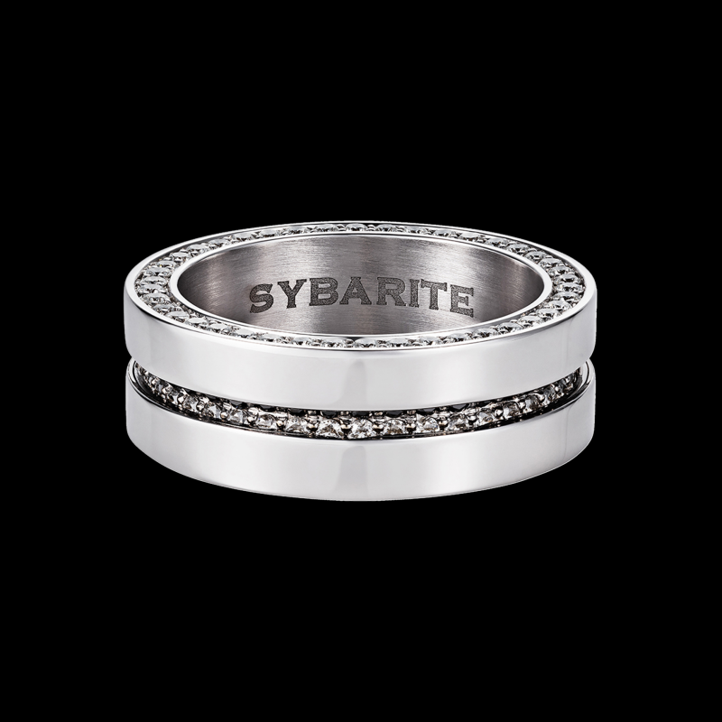 Men's Band Ring with Movement MR7.04.20 Sybarite Jewellery - image 1