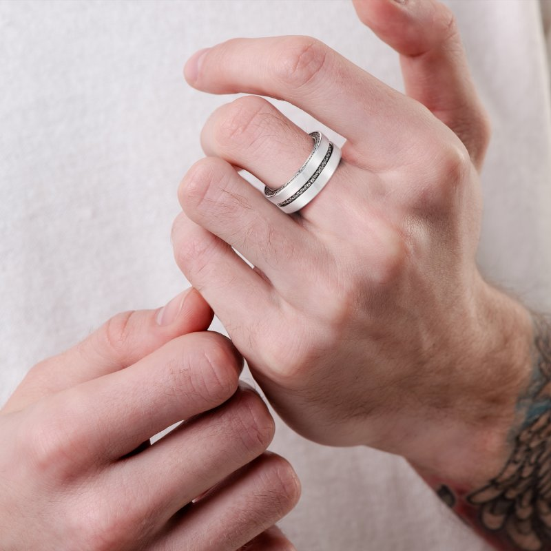 Men's Band Ring with Movement MR7.04.20 Sybarite Jewellery - image 2