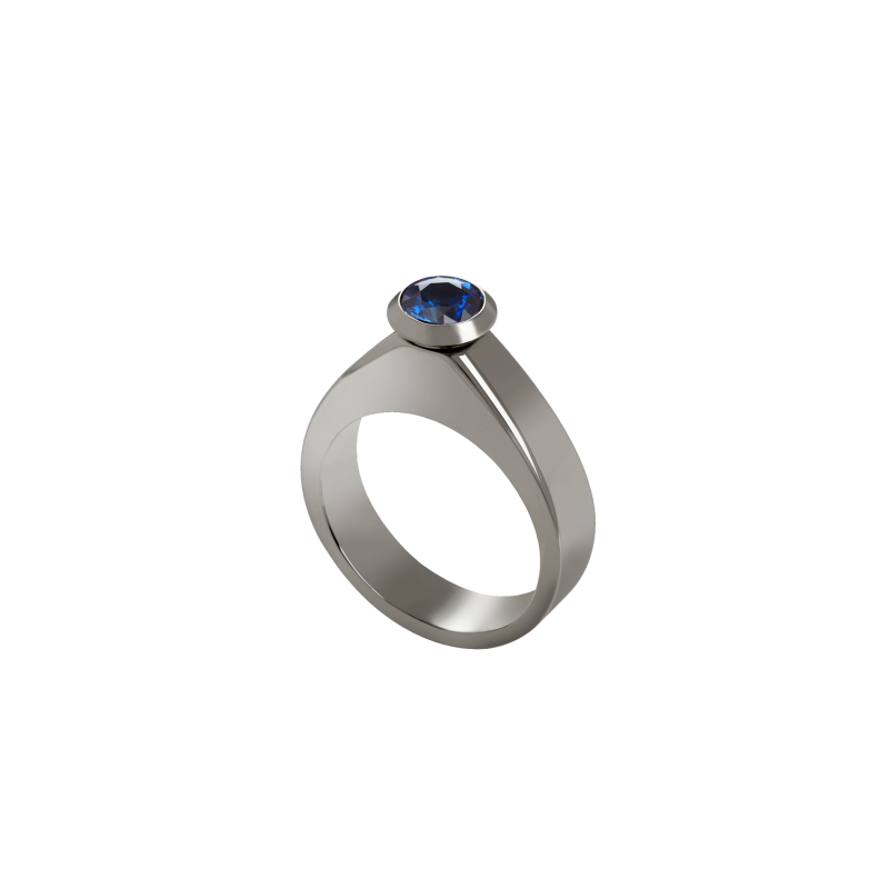 Dancing Doll Ring in Blackened Gold with Black Diamonds, Sapphires and Pearls DDR5.15.20 Sybarite Jewellery - image 4