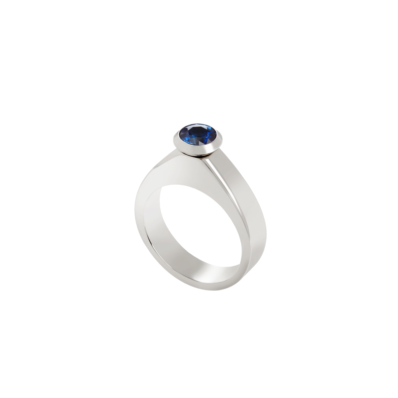 Dancing Doll Ring in White Gold with White Diamonds, Sapphires and Pearls DDR5.04.10.22 Sybarite Jewellery - image 4
