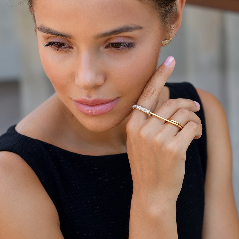 Safety Pin Ring  SPR9.20.20  Sybarite Jewellery - image 3