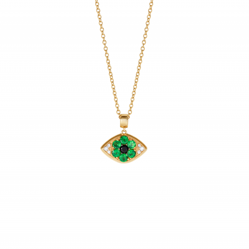 Safety Pin All Seeing Eye Charm in Yellow Gold & Sapphires  SPR9.30.6  Sybarite Jewellery - image 2
