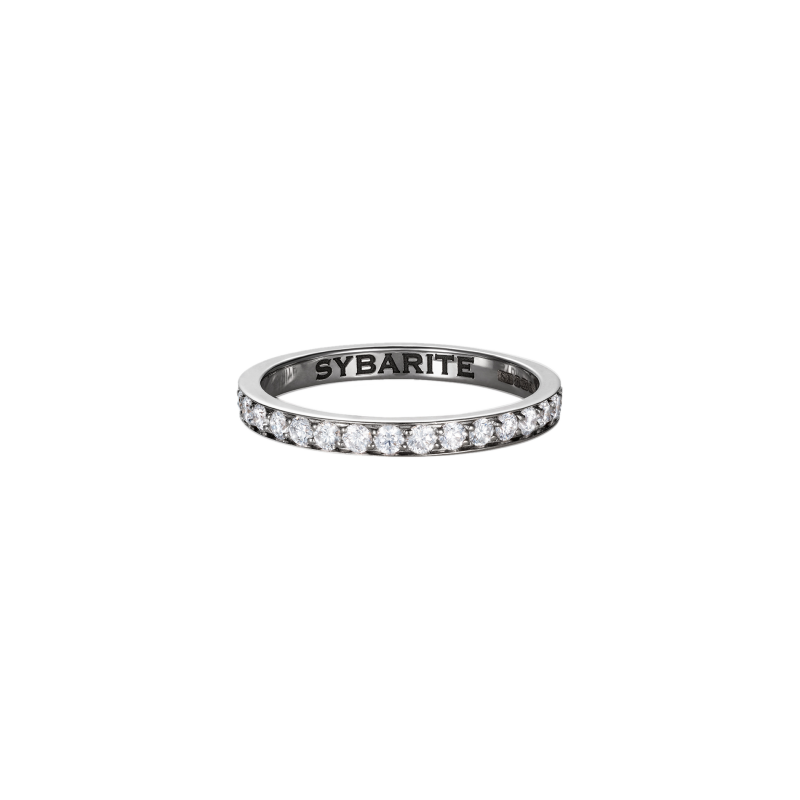 Classic Band Ring in 18 Carat White Gold & White Diamond   BR1.04  Sybarite Jewellery - image 0
